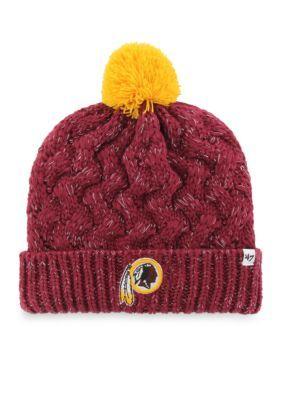 47 Brand Fiona Cuff Knit Redskins Hat - Dark Red - One Size Fits All