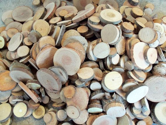Wood Slices  50 Assorted Unsanded Blank Tree by PebblesAndWoods