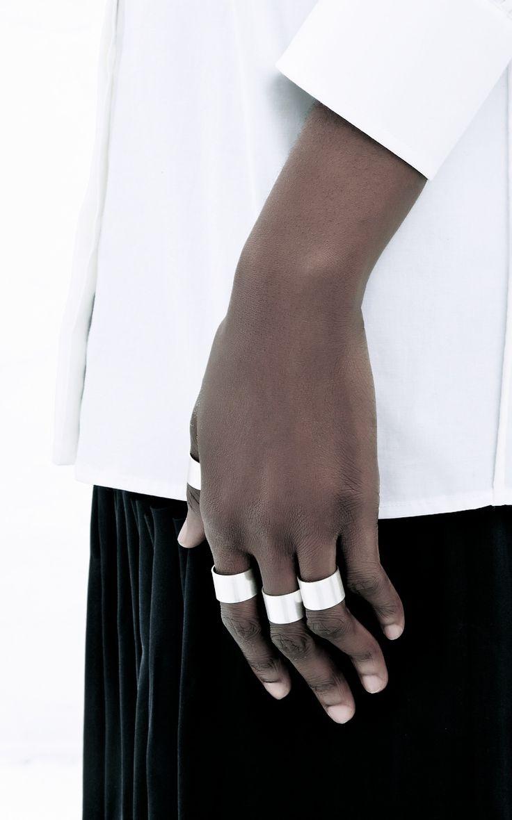 Maison Martin Margiela | Silver finger cuffs