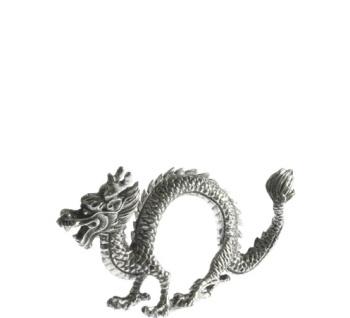 Pewter dragon napkin rings
