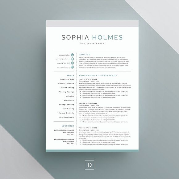 Word Resume & Cover Letter Template @Graphicsauthor