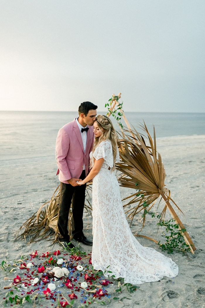 Glamorous Florida Styled Shoot Small Intimate Wedding Intimate