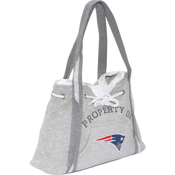 Littlearth NFL Hoodie Purse Grey - New England Patriots - Shoulder... ($22) ❤ liked on Polyvore featuring bags, handbags, grey, man bag, purse shoulder bag, embellished handbags, handbag purse and hand bags