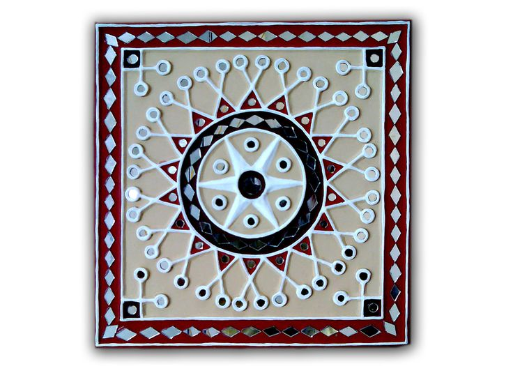 Gujarat Mud and Mirror work Lippan