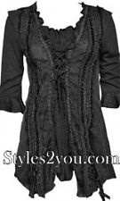 Pretty Angel Clothing Lady Renaissance Top In Black or Brown *Style#10367