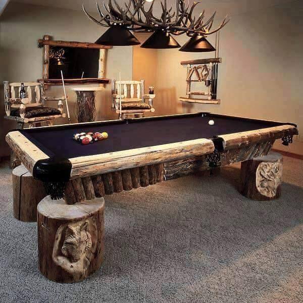 Marvelous Custom Man Cave Pool Table