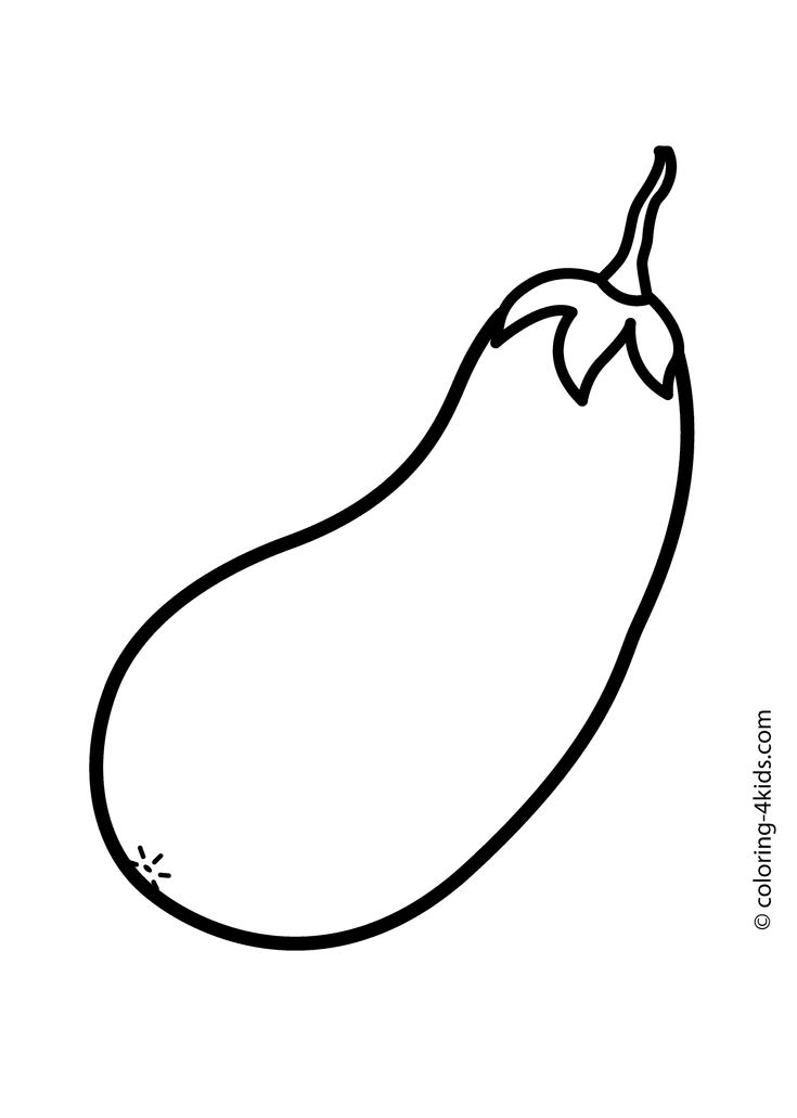 Marrow Squash Vegetable Coloring Page For Kids Printable