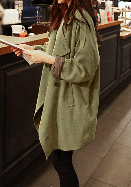 Oversized trench coat.