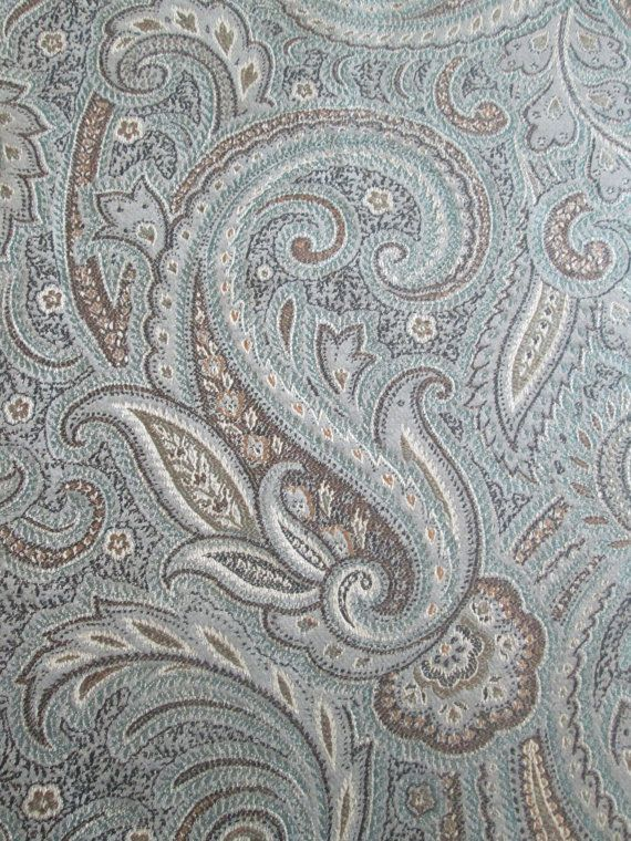2 Yards  Remnant  Paisley Fabric  Paisley by DIYFabricRemnants, $36.00