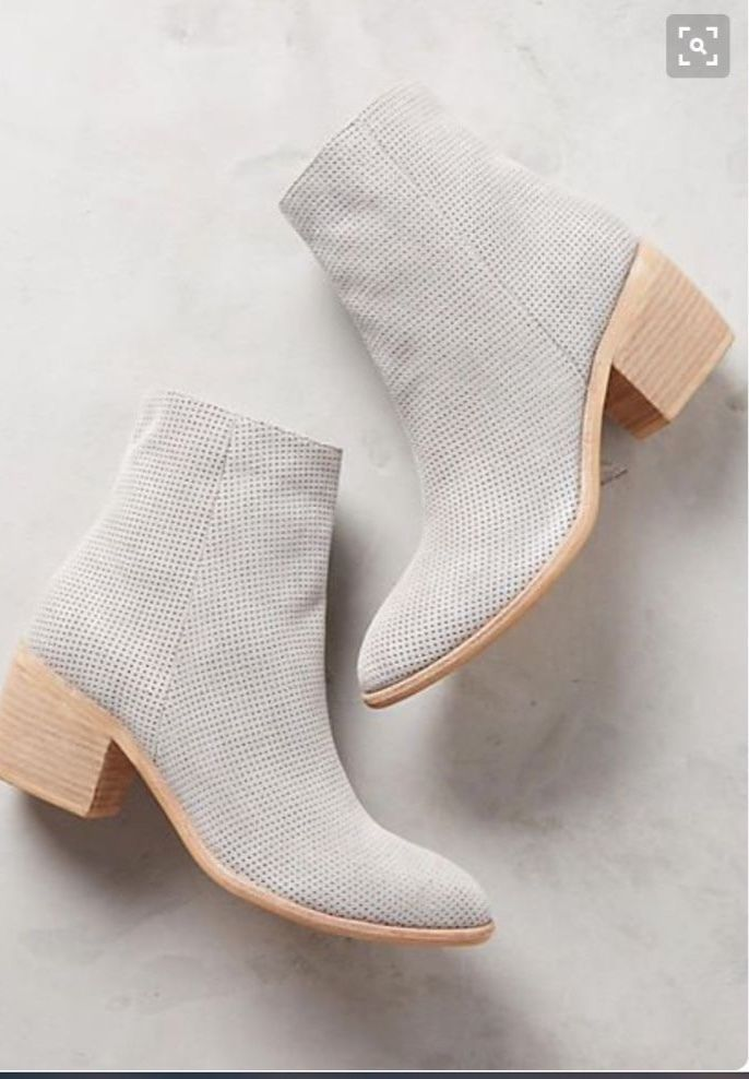 New Anthropologie Silent D East Bay Grey Booties 37 Retail $198  | eBay
