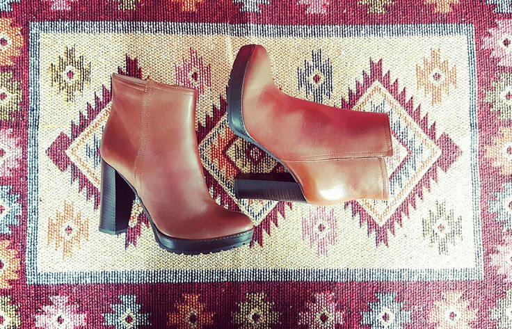 camel leather anle boots