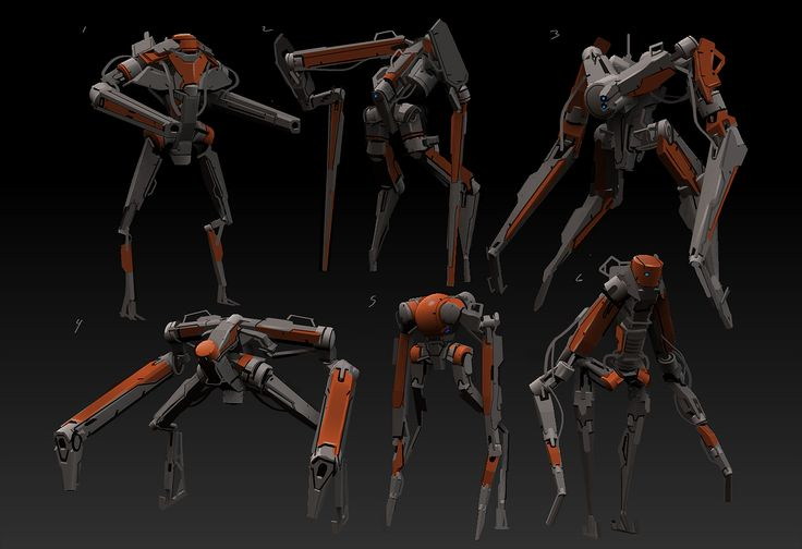 Daryl_Mandryk_zBrush_Concept_bot_sketches.jpg (1690×1158)