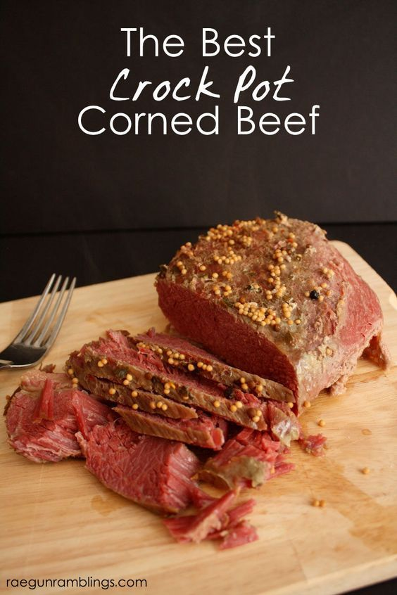 This is how I cook my corned beef (in the crock pot) for St. Patrick's Day every year and it works great!: