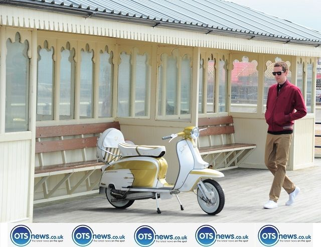 bradley wiggins for fred perry pier scooter lambretta road racer bike southport otsnews.co.uk_0