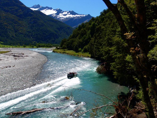 Wanaka River Journeys... Feel the thrill of adventure as you travel toward Mount Aspiring and glaciers; past towering mountains, waterfalls and Lord of The Rings film locations on the pristine, glacier fed waters of the Matukituki River.