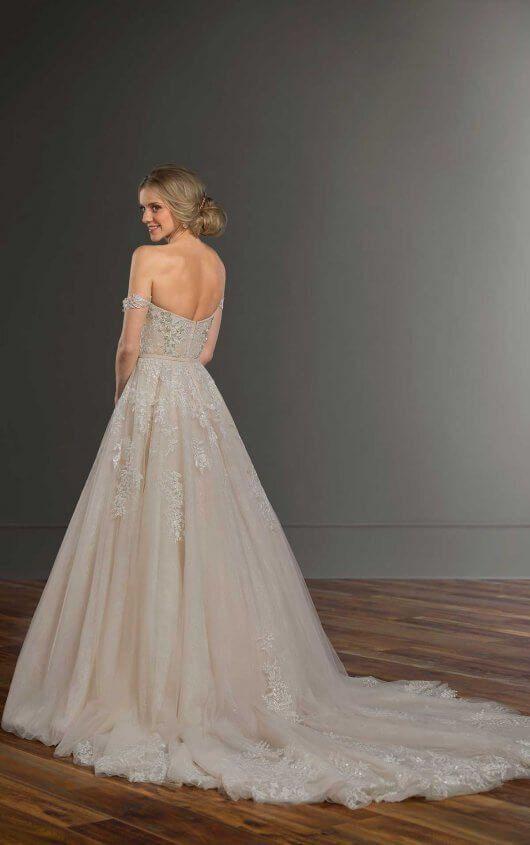 de8dd48d35bf Beaded Off-the-Shoulder Wedding Dress Separates | Martina Liana Separates:  Together.Forever. | Wedding dresses, Wedding dress separates, Dresses
