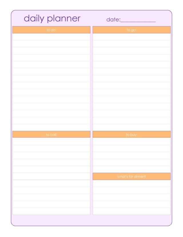 Daily Planner Sheets Printable Free Printable Calendar Blank Template High Resolution Imag Day Planner Template Daily Planner Sheets Daily Planner Template