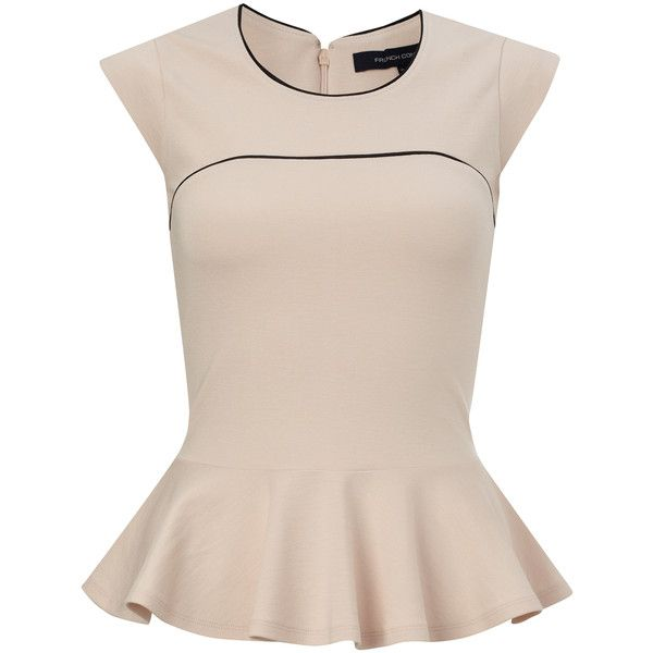 French Connection Valencia Peplum Top found on Polyvore