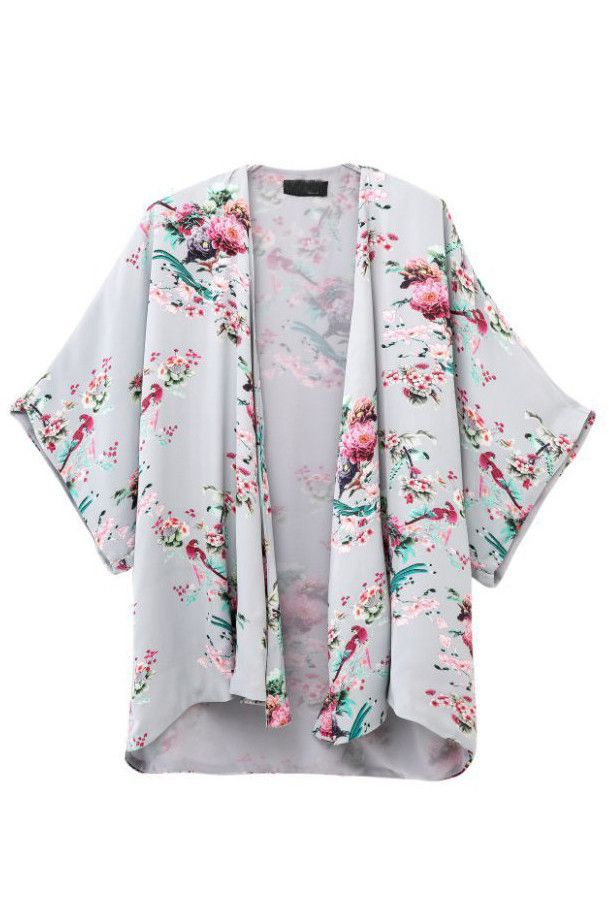 Goodnight Macaroon - Pastel Floral Kimono Jacket
