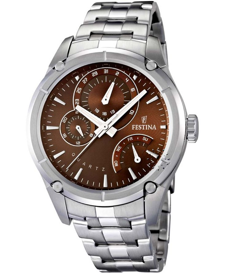 FESTINA Chronograph Stainless Steel Bracelet Τιμή: 174€ http://www.oroloi.gr/product_info.php?products_id=36420
