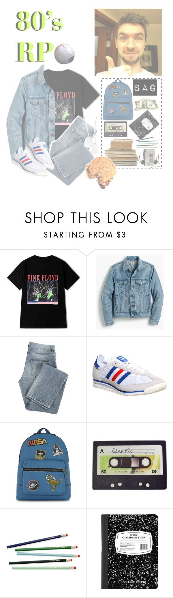 """""""80's RP🐊💚"""" by squishy-bubble-tea ❤ liked on Polyvore featuring J.Crew, Givenchy, adidas, Coach, Joseph Joseph, Sony, Variations, men's fashion and menswear"""