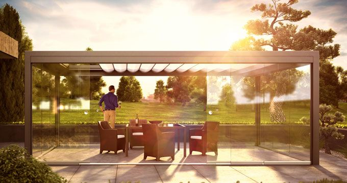Create light in your life with the All-Glass Sliding System SF20. #sunflexwalls #slidingdoors #sunroom