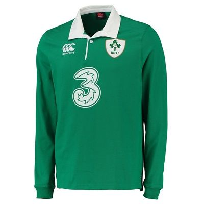 Ireland Rugby Home Classic Long Sleeve Shirt 15/16: Ireland Rugby Home Classic Long Sleeve Shirt 15/16