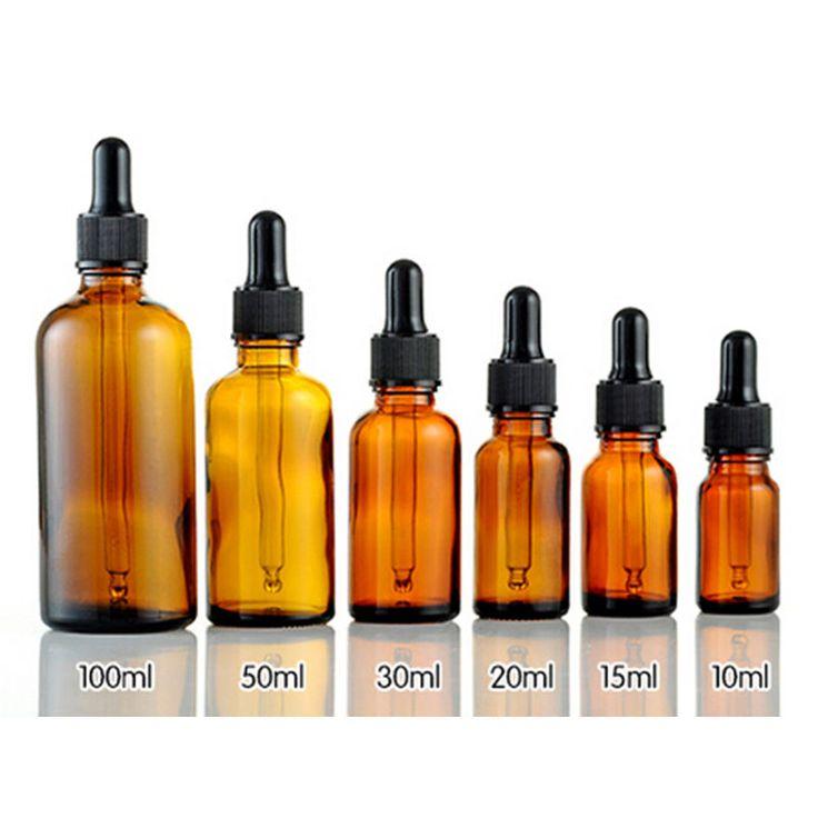 Garrafa de loção de vidro âmbar, Garrafa de vidro de óleo essencial 10 ml 15 ml…