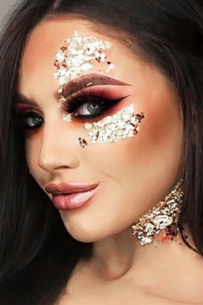 Glitter Eyeshadow Tutorial: 36 Ideas How To Use A Gold Glitter