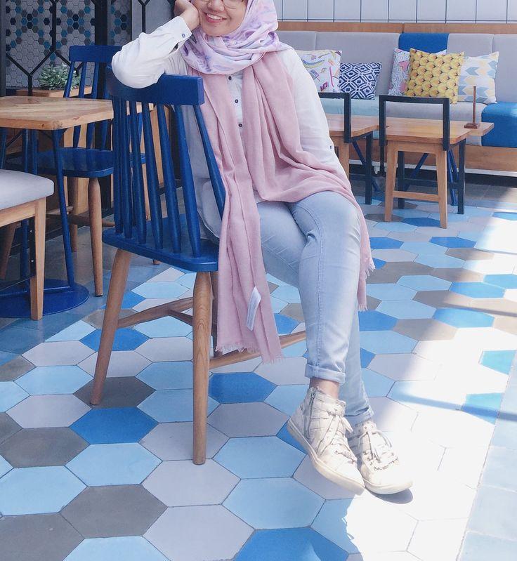 Pastel hijab ootd
