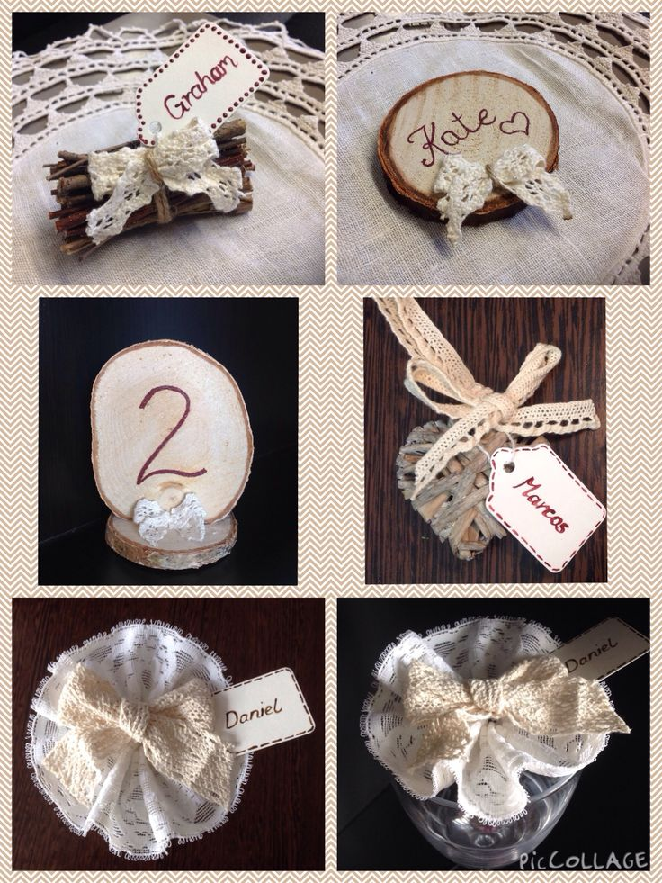 Handmade bespoke table planning and place settings by Lilly Dilly's #wedding #table #vintage #theme #wooden #handmade #bespoke #lace #rustic #natural