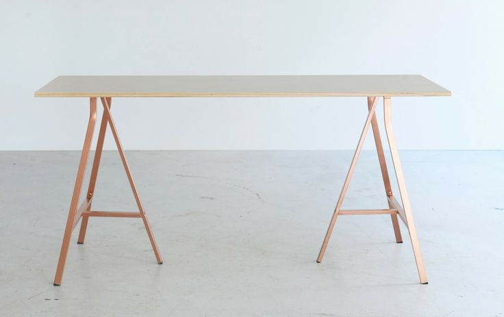 ikea new collection for 2014 // limited edition collection bråkig // wood office desk with copper tone pegs
