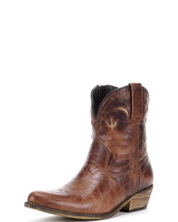 Dingo  39 s Adobe Rose Boot you can step out in style and comfort  The distressed red leather provides a fashionable  worn in edge  while western underlays and lasso stitching add a classic touch  A side zipper is included on the short shaft to make on and off a breeze  lt  div gt  lt p gt  lt  p gt