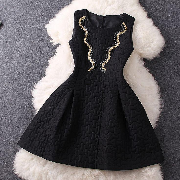 Beaded Dress In Black HG122806MH