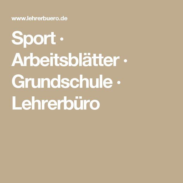 Sport · Arbeitsblätter · Grundschule · Lehrerbüro