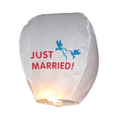 Just Married papieren wensballon.