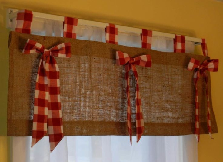 Burlap Window Treatments | Burlap Valance Blog | Favoritizm.com
