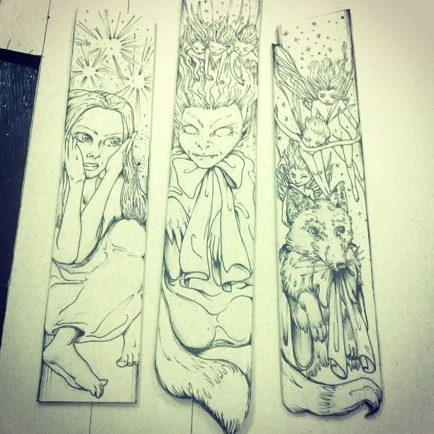 Fairy tales bookmarks... #fairytale #fairies #fairy #tales #fox #foxy #foxylady #lady #pixie #pixiedust ✨ #leprechaun #leprechauns' #artwork #art #sketch #illustrated #illustration #illustrator #illustrations #bookmarks #book  #books #ink #pen #pencil #storytelling #storytale #imagination #images #imagine Concept and artwork by Natzz Bazante
