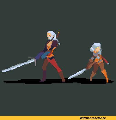 The Witcher,Ведьмак, Witcher, ,Игры,Pixel Art,Пиксель Арт, Пиксель-Арт,Игровой арт,game art