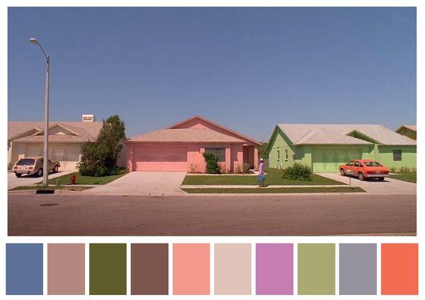 El joven manos de tijera , Tim Burton. (1990) | 29 Escenas de películas inolvidables para todos los amantes del color