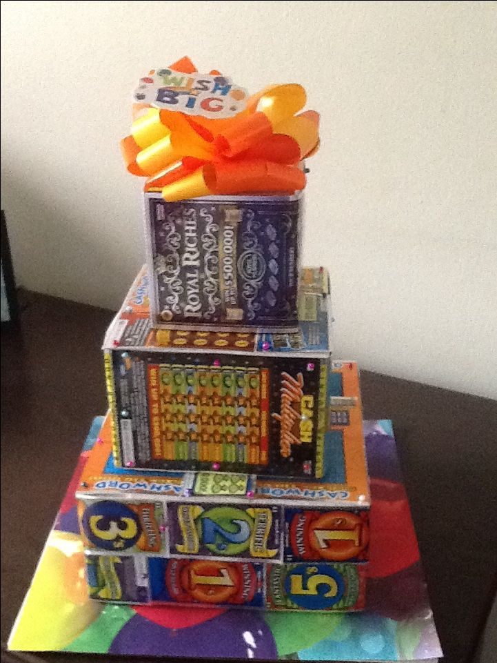 Lottery Ticket Cake Juanita S Lottery Ticket Gift Diy
