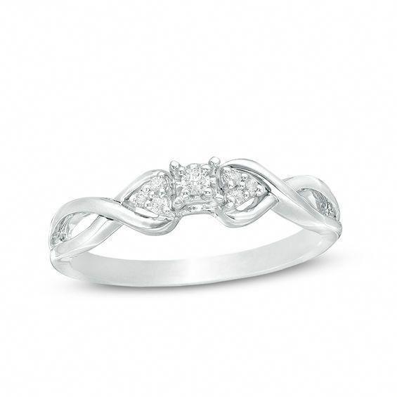Infinity Crossover Swirl Wedding Band 925 Sterling Silver  Cubic Zirconia Women