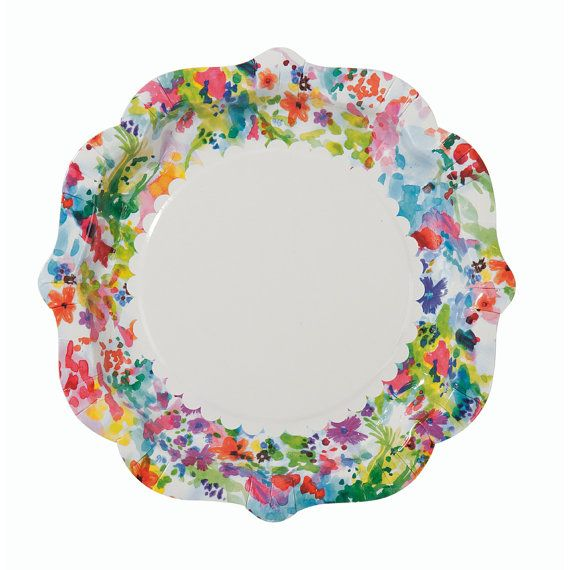 Talking Tables Floral Party Plate - Set of 24  sc 1 st  Pinterest & 28 best Paper Plates images on Pinterest | Paper plates Happy b ...