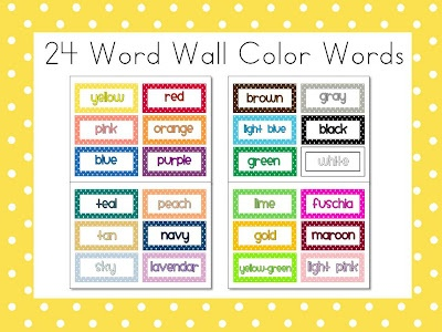 More FREE Polka Dot Colors - 24Wall Colors, Polka Dots, Class Teachers, Words Wall, Dots 24, Teachers Notebooks, Dots Colors, Word Walls, Classroom Ideas