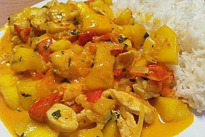 Brasilianisches Hühnchen mit Kokosmilch und Mango (Rezept mit Bild) | Chefkoch.de
