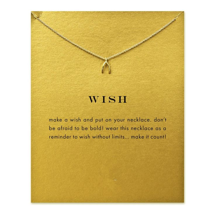 Hot Sale Sparkling wishbone gold color plated Pendant necklace Clavicle Chains Statement Necklace Women Jewelry(Has card)
