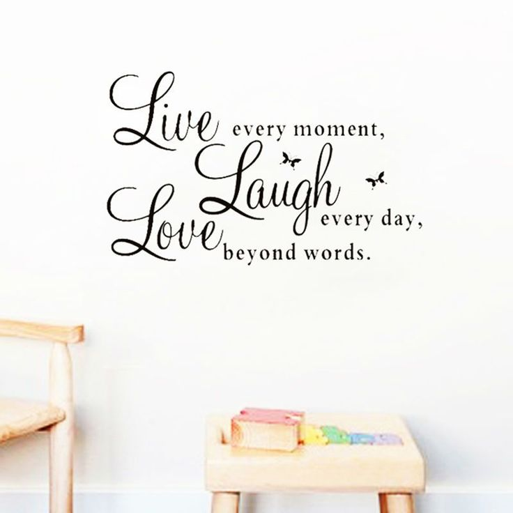 live laugh love quotes wall decals home decorations adesivo de paredes removable diy wall stickers letters room mural art 1002.