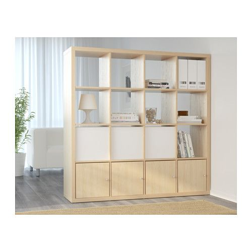 Kallax tag re motif bouleau ikea bureau pinterest for Meuble kallax blanc