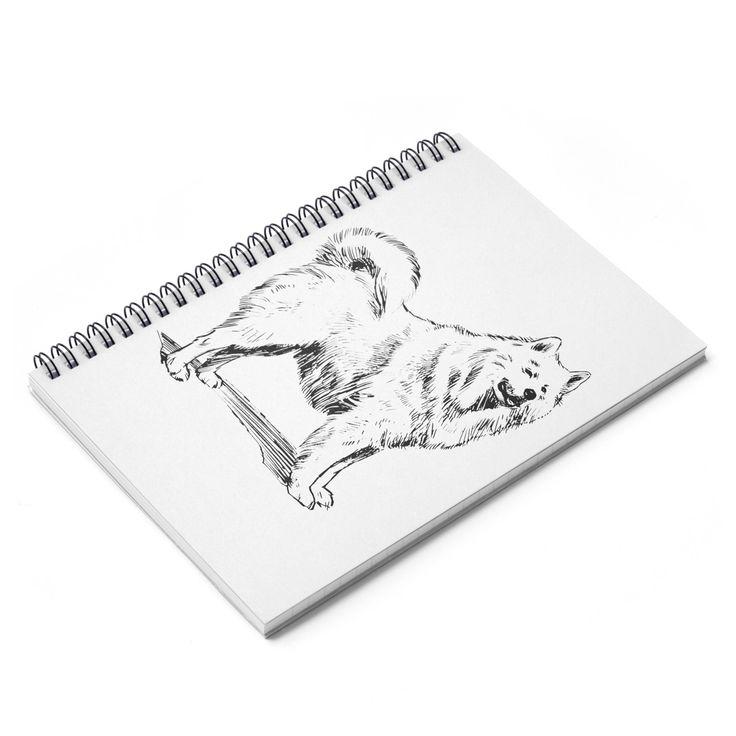 Retro Samoyed Spiral Notebook - Ruled Line