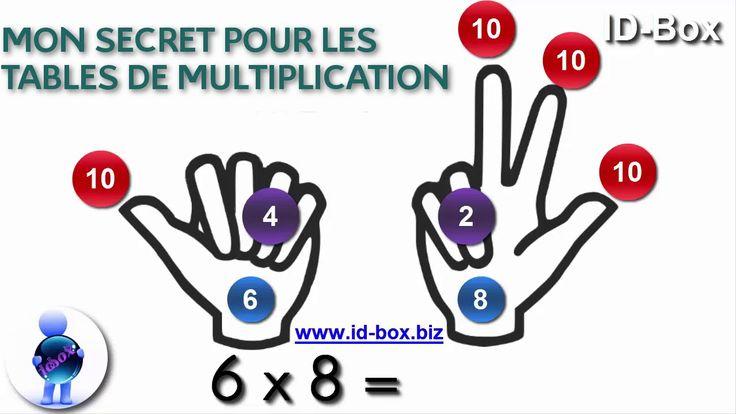 Astuce Math Connaitre Ses Tables De Multiplication Sans Les Apprendre - YouTube
